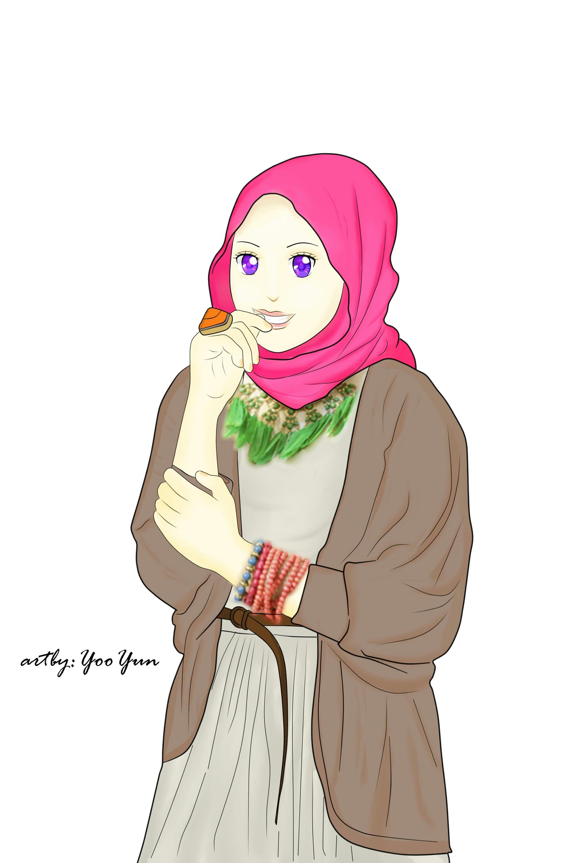 Gambar Kartun Muslimah Modern Kantor Meme